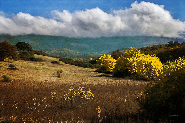 Foothill Autumn In Southern Oregon Print by Mick Anderson