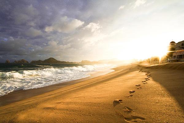 Footsteps In The Sand Print by Eti Reid