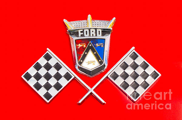 Ford Emblem Print by Jerry Fornarotto