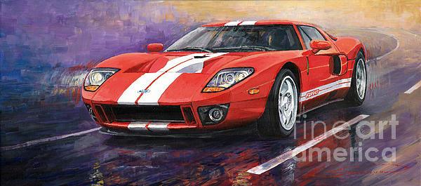 Ford Gt 2005 Print by Yuriy  Shevchuk