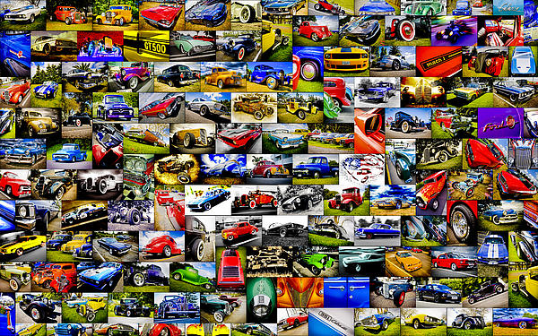 Ford Hot Rod Collage Print by motography aka Phil Clark