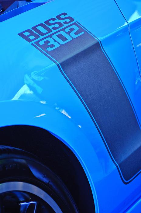 Ford Mustang Boss 302 Emblem Print by Jill Reger