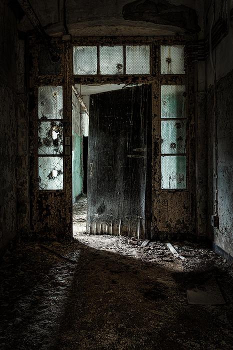 Foreboding Doorway Print by Gary Heller