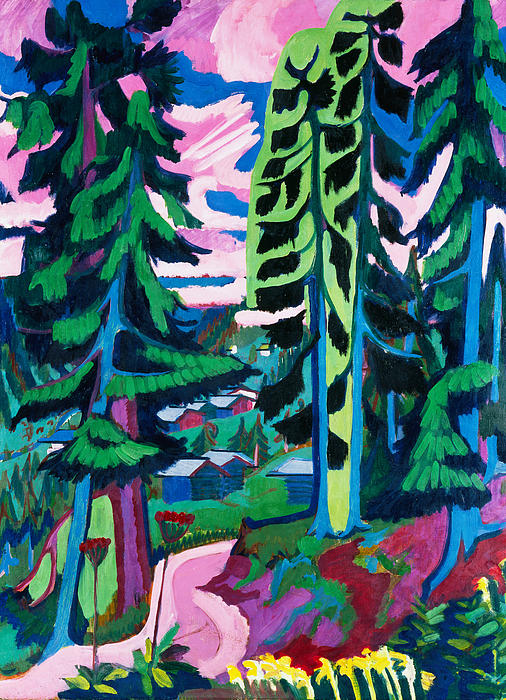 Forest Path In Summer Print by Ernst Ludwig Kirchner