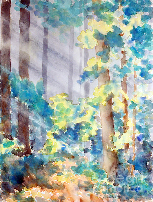 Forest Through The Trees Print by Verone Solilo