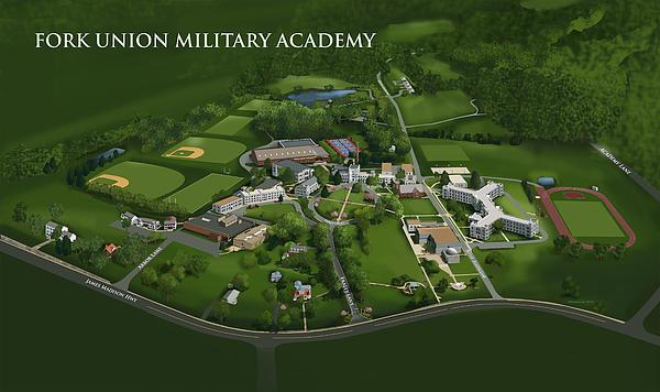 Fork Union Military Academy Print by Rhett and Sherry  Erb