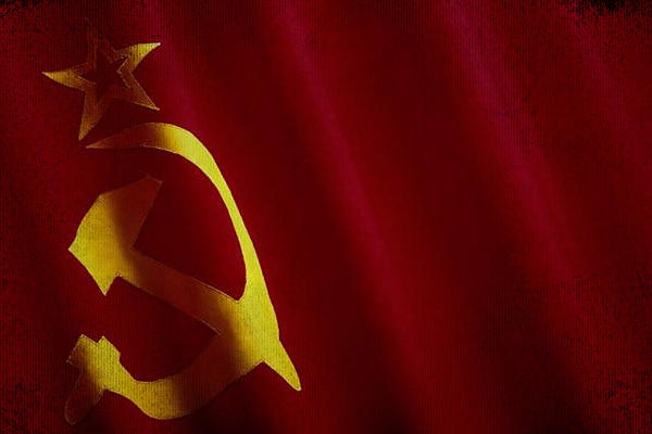 Eti Reid - Former USSR flag waving on canvas