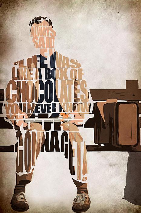 Forrest Gump - Tom Hanks Print by Ayse Deniz