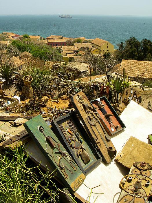 Found Art Hilltop Overlook Ile De Goree Dakar Senegal West Africa Print by Robert Ford