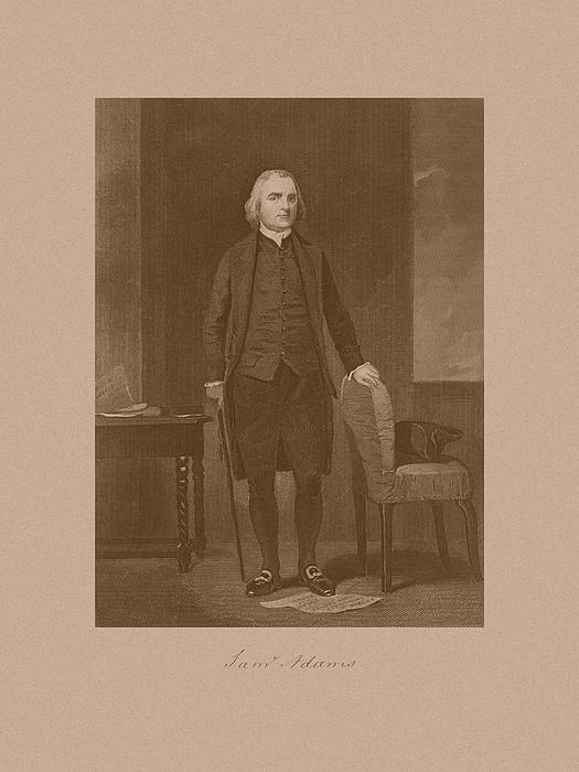 Founding Father Samuel Adams Print by War Is Hell Store