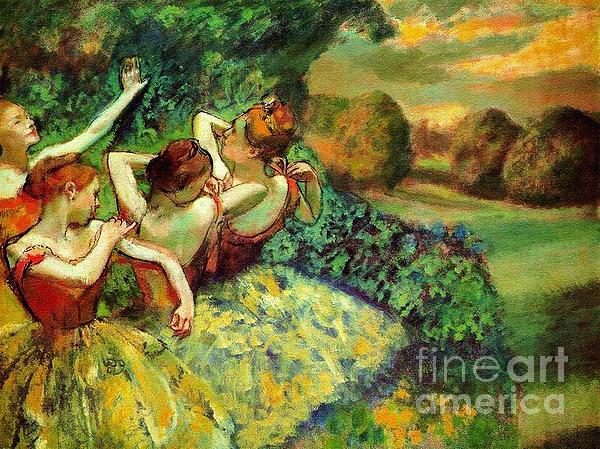 Four Dancers Print by Pg Reproductions