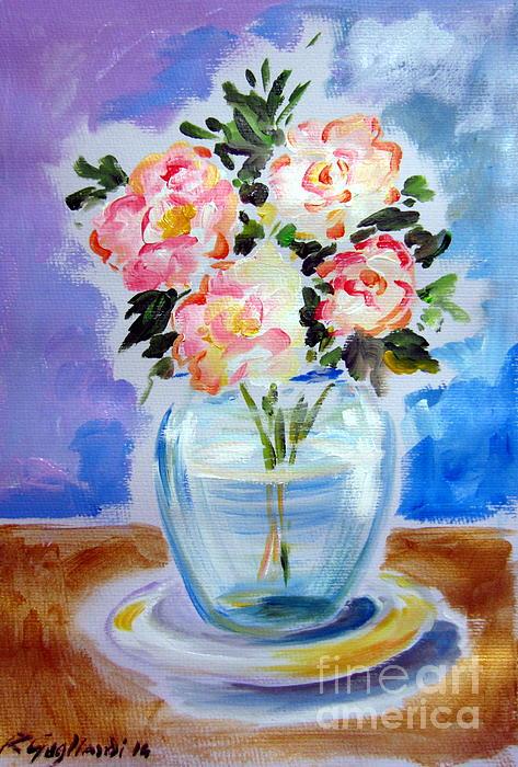 Roberto Gagliardi - Four Roses in a Glass Vase