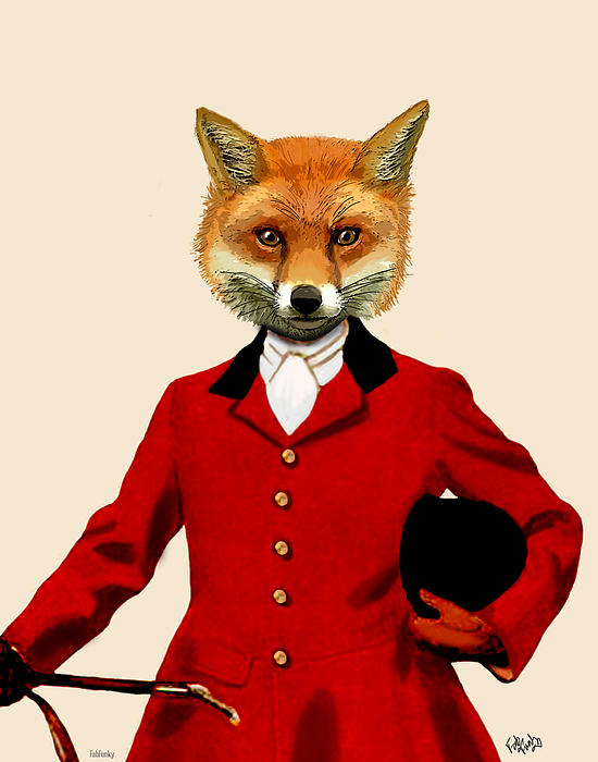 Fox Hunter 2 Portrait Print by Kelly McLaughlan
