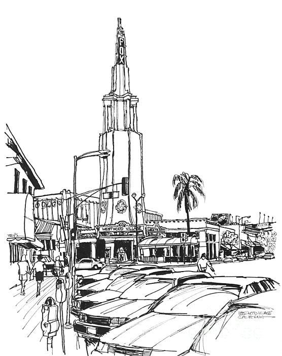 Fox Theater Westwood Village California Print by Robert Birkenes