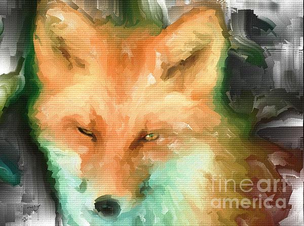 Foxy Girl Print by Ruby Cross