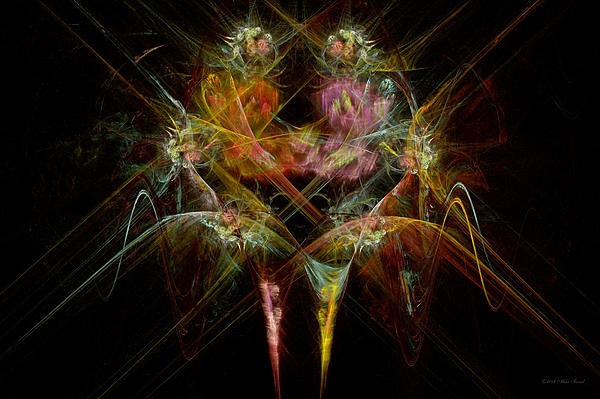 Fractal - Christ - Angels Embrace Print by Mike Savad