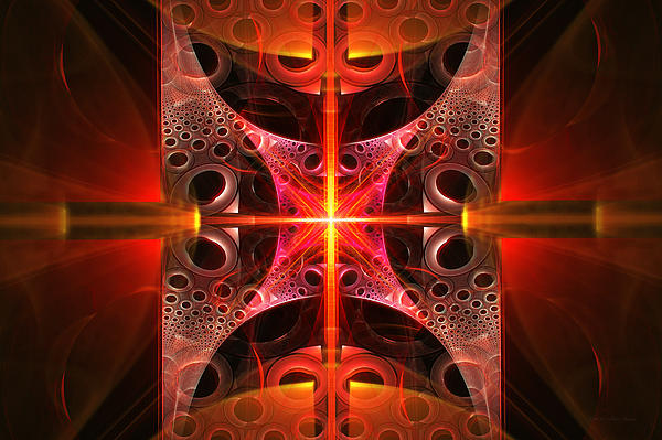 Fractal - Science - Cold Fusion Print by Mike Savad