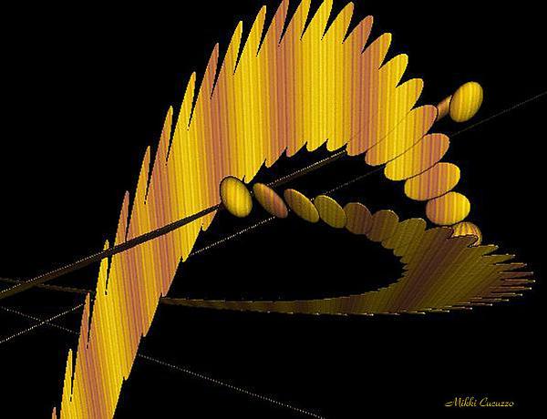 Fractals 3 Print by Mikki Cucuzzo