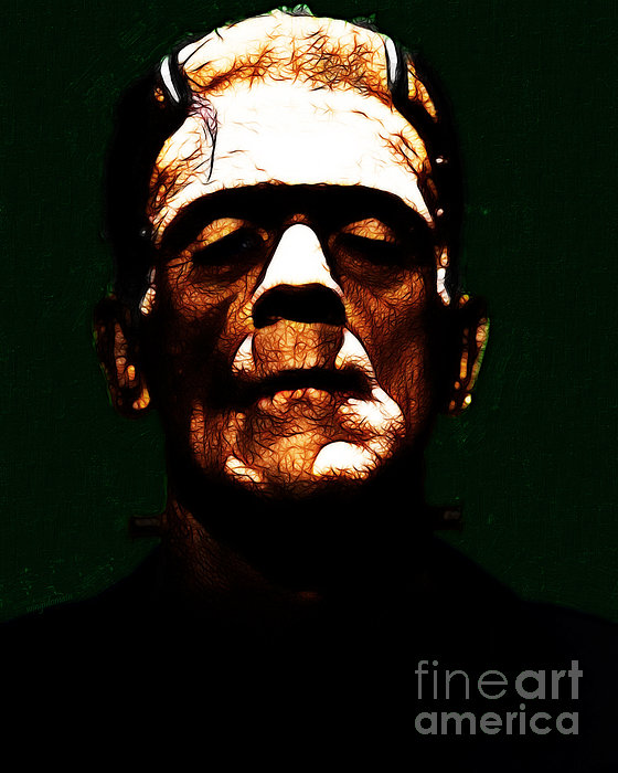 Frankenstein - Dark Print by Wingsdomain Art and Photography