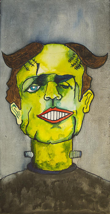 Frankensteins Monster As Tillie Print by Patricia Arroyo