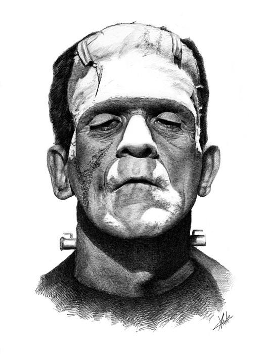 Frankensteins Monster Print by Christian Klute