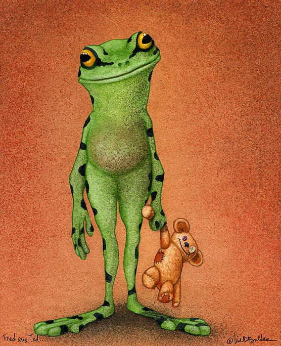 Fred And Ted... Print by Will Bullas