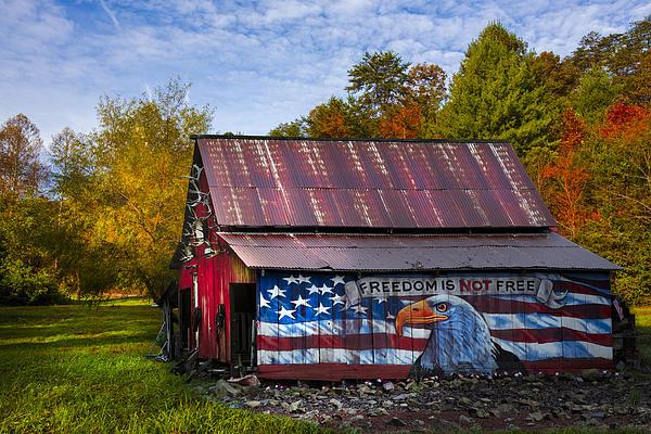 Freedom Is Not Free Print by Debra and Dave Vanderlaan