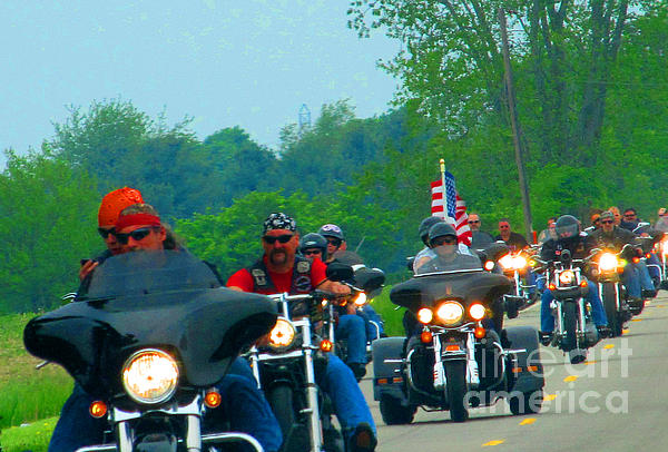 Freedom Riders Having So Much Fun Print by Tina M Wenger