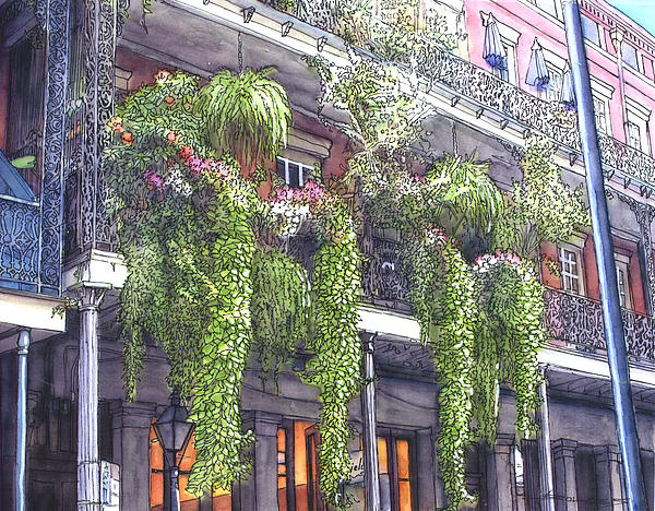 French Quarter Balcony 379 Print by John Boles