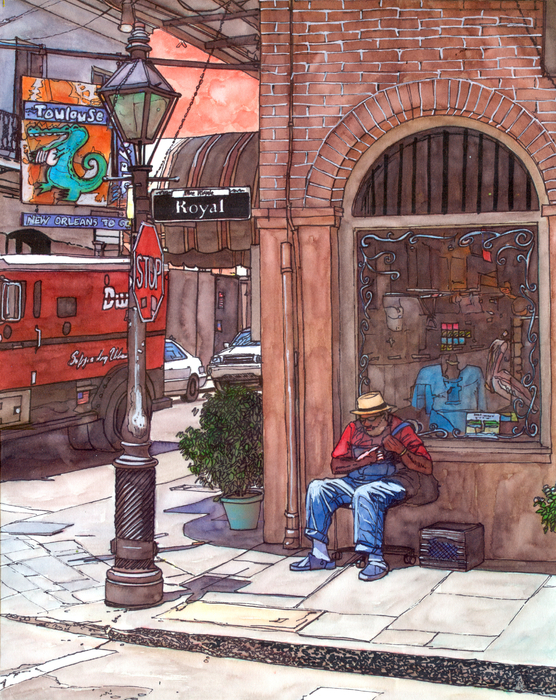French Quarter Royal St. Print by John Boles