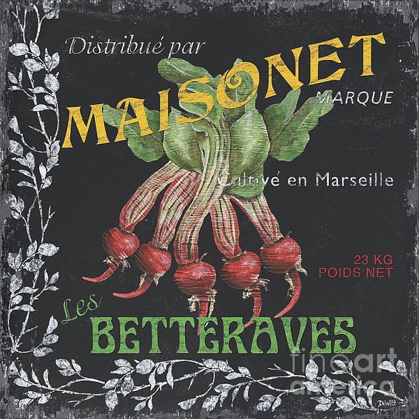 French Veggie Labels 2 Print by Debbie DeWitt