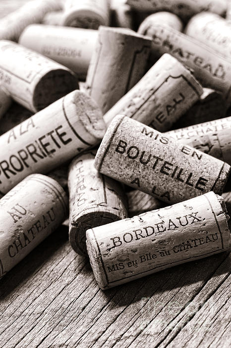 French Wine Corks Print by Olivier Le Queinec