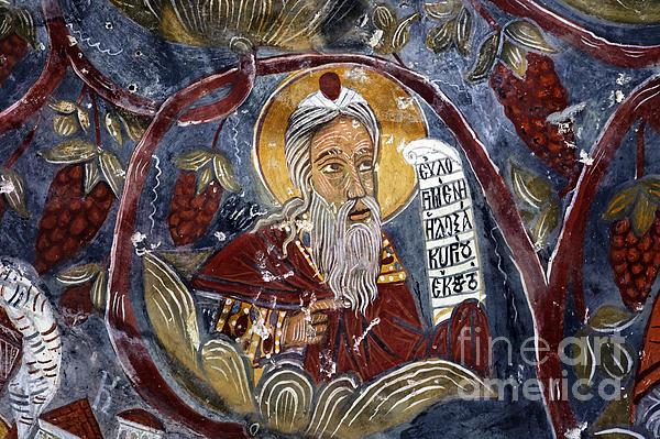 Fresco At The Sumela Monastery Turkey Print by Robert Preston