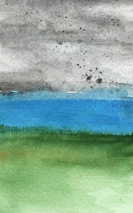 Fresh Air- Landscape Painting Print by Linda Woods