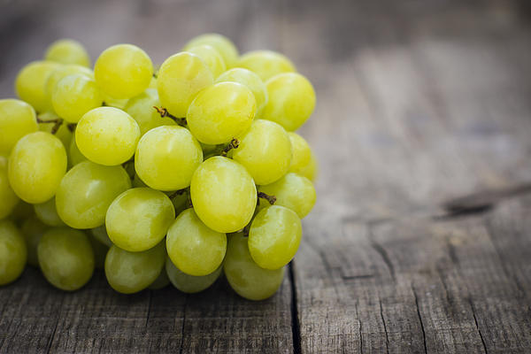 Fresh Green Grapes Print by Aged Pixel