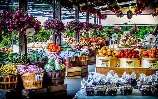 Fresh Market Print by Karen Wiles