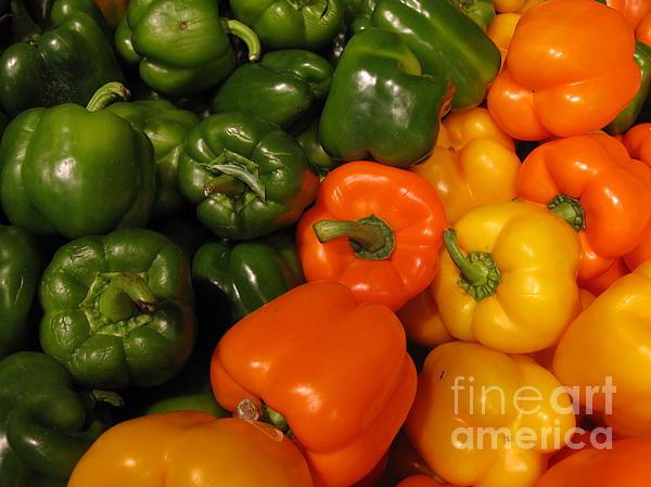 Fresh Market Series. Green And Orange Print by Ausra Paulauskaite