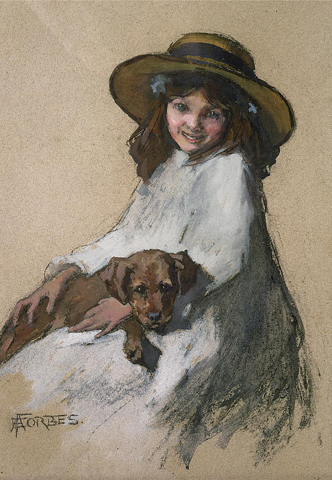 Friends Print by Elizabeth Adela Stanhope Forbes