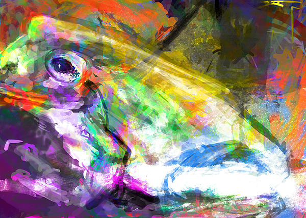 Frog Work Print by James Thomas