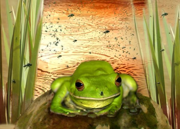 Froggy Heaven Print by Holly Kempe