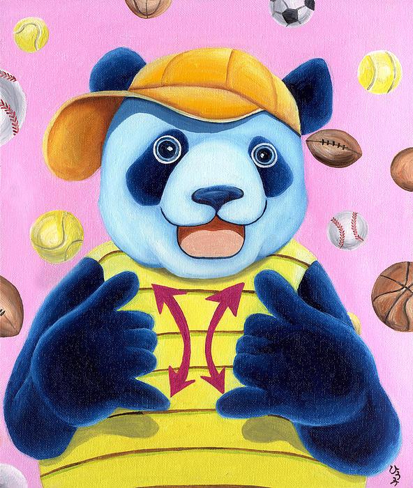 From Okin The Panda Illustration 14 Print by Hiroko Sakai