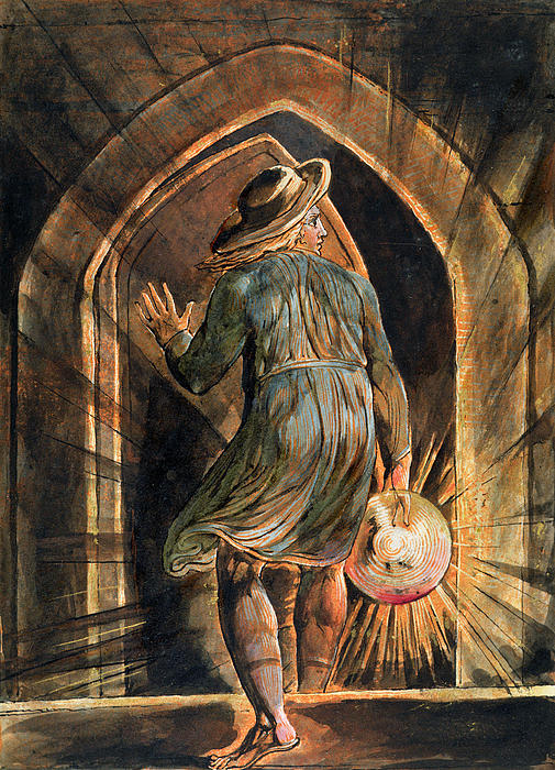 Frontispiece To Jerusalem Print by William Blake
