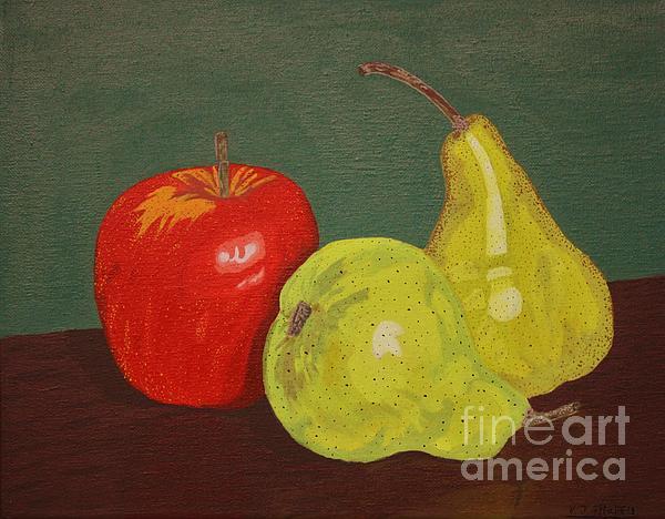 Fruit For Teacher Print by Vicki Maheu