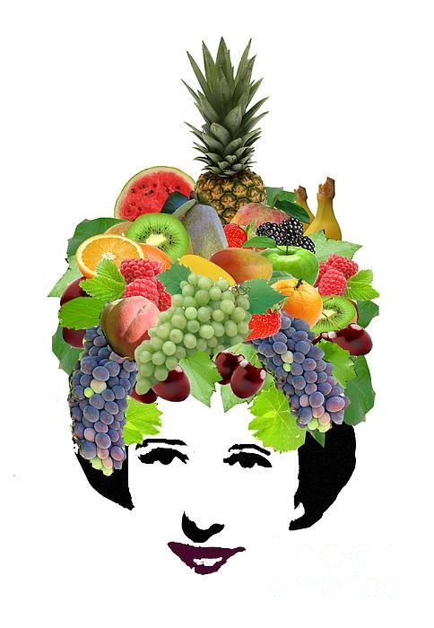 Fruit Lady Print by Jennifer Schwab