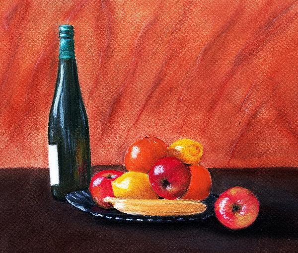 Fruits And Wine Print by Anastasiya Malakhova