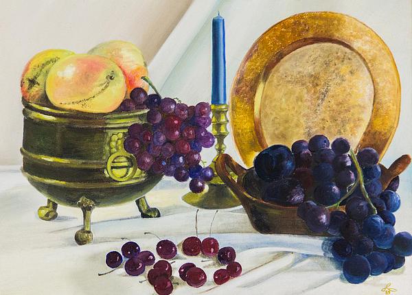 Frutas Oscuras Print by Vicente Garcia-huerta