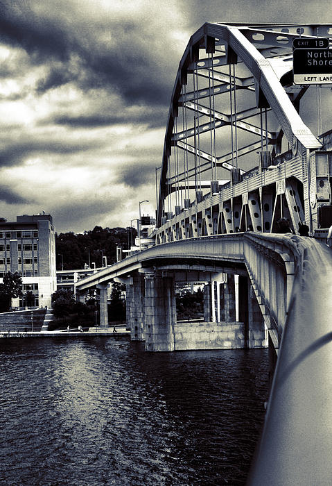 Ft. Duquesne Bridge In Pittsburgh Print by Mattucci Photography