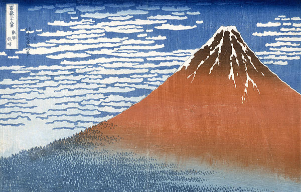 Fuji Mountains In Clear Weather Print by Hokusai