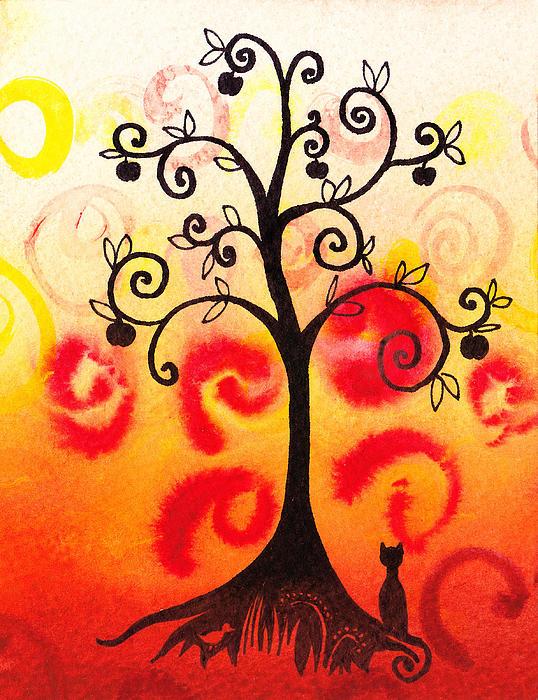 Fun Tree Of Life Impression Iv Print by Irina Sztukowski