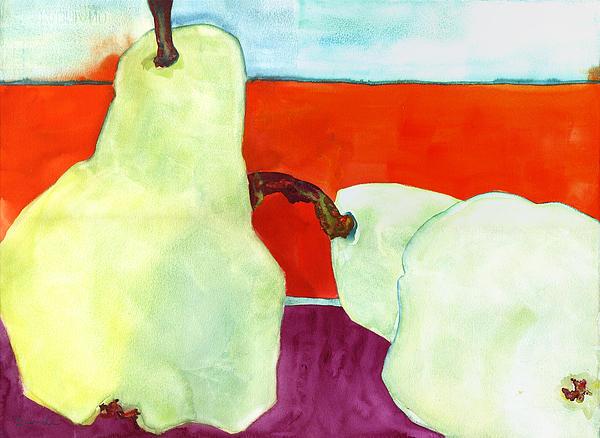 Fundamental Pears Still Life Print by Blenda Studio